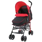 more details on Fisher-Price Black and Red Pushchair with Footmuff.