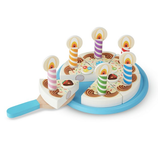 Outstanding Buy Melissa Doug Wooden Birthday Cake Wooden Toys Argos Funny Birthday Cards Online Alyptdamsfinfo