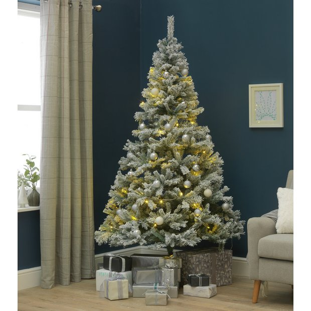 Buy Argos Home 7ft Snow Covered Christmas Tree Green Christmas Trees Argos