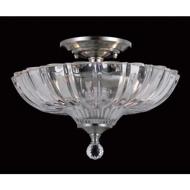 buy dallas glass 2 bulb semi flush light fitting satin. Black Bedroom Furniture Sets. Home Design Ideas