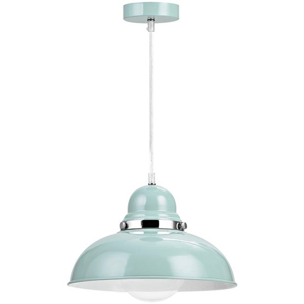Buy Vermont Light Blue And Chrome Pendant Light At Argos