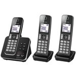 more details on Panasonic Cordless Telephone with Answer Machine - Triple.