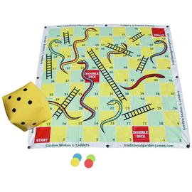 Traditional Garden Games Garden Snakes and Ladders 2m x 2m.