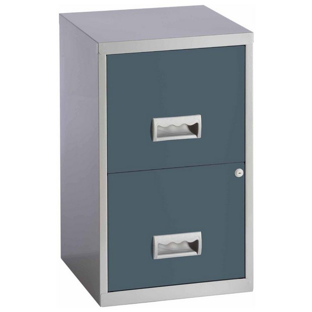 buy pierre henry 2 drawer filing cabinet urban grey at