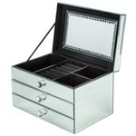 more details on Large Mirrored Two Drawer Jewellery Box.