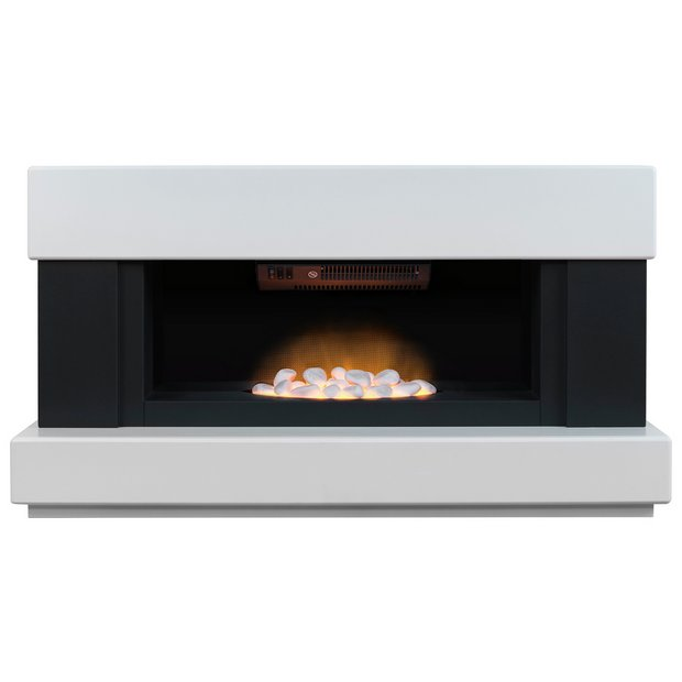 Buy Adam Verona 2kw Electric Fireplace Suite White Black At Your Online Shop
