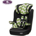 more details on Obaby Group 1-2-3 High Back Booster Car Seat - ZigZag Lime.
