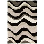 more details on Tidal Black and Silver Rug - 150 x 240cm.