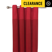 HOME Dublin Unlined Eyelet Curtains - 229 x 229cm - Red