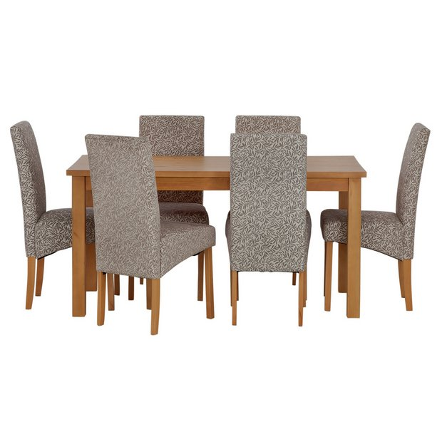 Buy home lincoln solid wood table 6 skirted chairs floral at your online shop Buy home furniture online uk