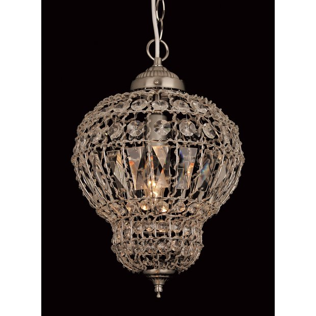 Crystal Wall Lights Argos : Buy Morocco Crystal Beads Light - Satin Nickel at Argos.co.uk - Your Online Shop for Ceiling and ...
