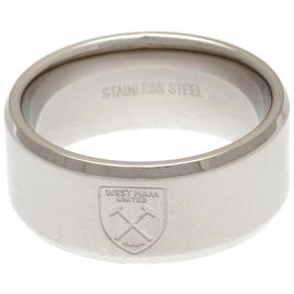 Stainless Steel West Ham Ring - Size R