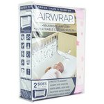 more details on Airwrap?? Printed 2 Sided Cot Bumper - Pink Stars.