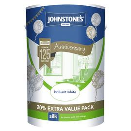 Johnstone's Brilliant White Silk Emulsion 6L