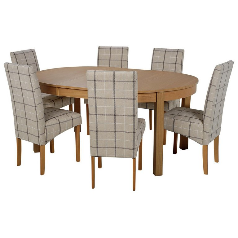 Buy Collection Massey Dining Table amp 6 Chairs Wood Effect  : 4127099RSETMain768ampw620amph620 from www.argos.co.uk size 620 x 620 jpeg 36kB