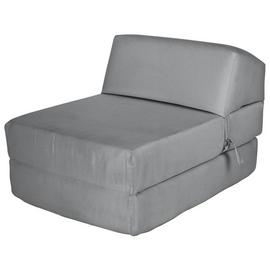 Argos Home Single Cotton Chair Bed - Flint Grey