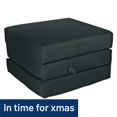ColourMatch Single Mattress Cube - Jet Black