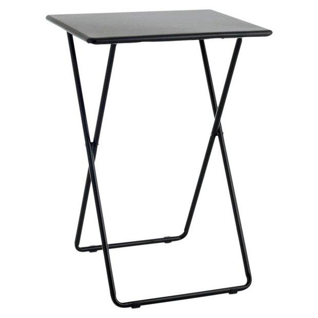 Swell Buy Habitat Airo Metal Folding Table Black Side Tables Argos Ncnpc Chair Design For Home Ncnpcorg