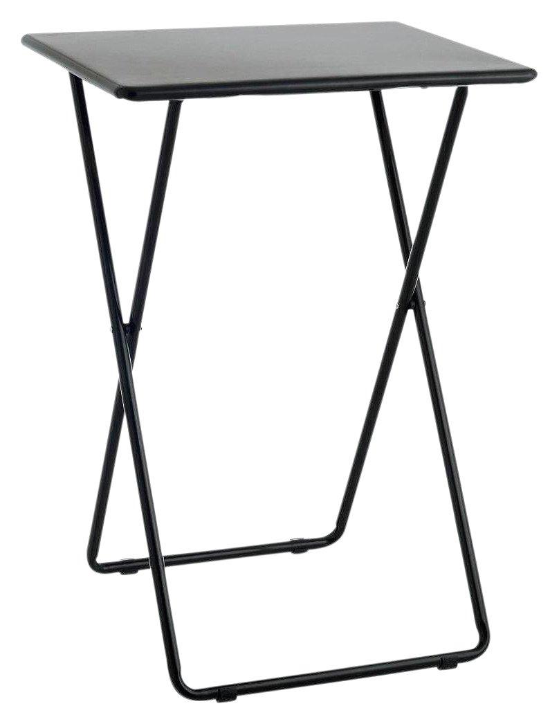 Habitat Airo Metal Folding Table   Black