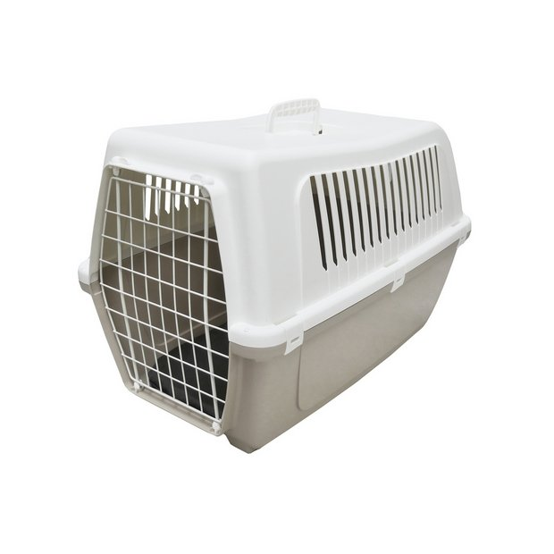 buy rosewood plastic pet carrier with cushion large at. Black Bedroom Furniture Sets. Home Design Ideas