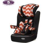 more details on Obaby Group 1-2-3 High Back Booster Car Seat - ZigZag Orange