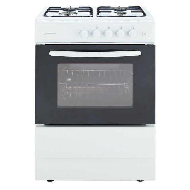 buy cookworks cgs50w single gas cooker white at. Black Bedroom Furniture Sets. Home Design Ideas