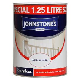 Johnstone's White Liquid Gloss 1.25L