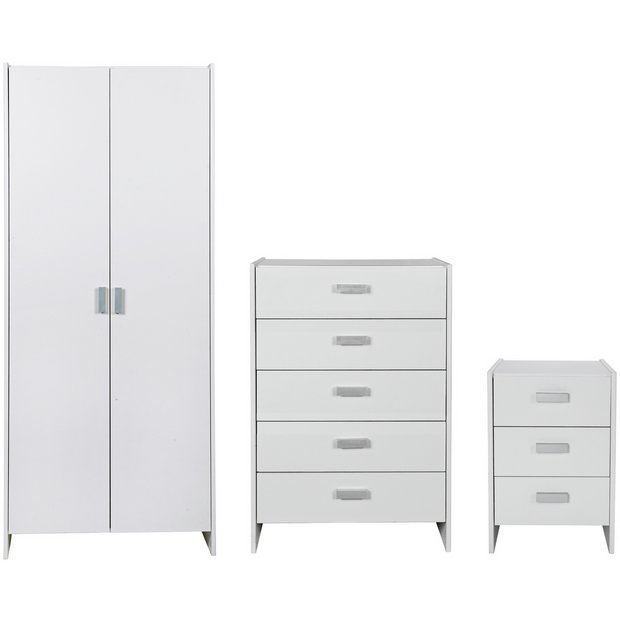 Buy Home New Capella 3 Piece 2 Door Wardrobe Package White At Your Online Shop