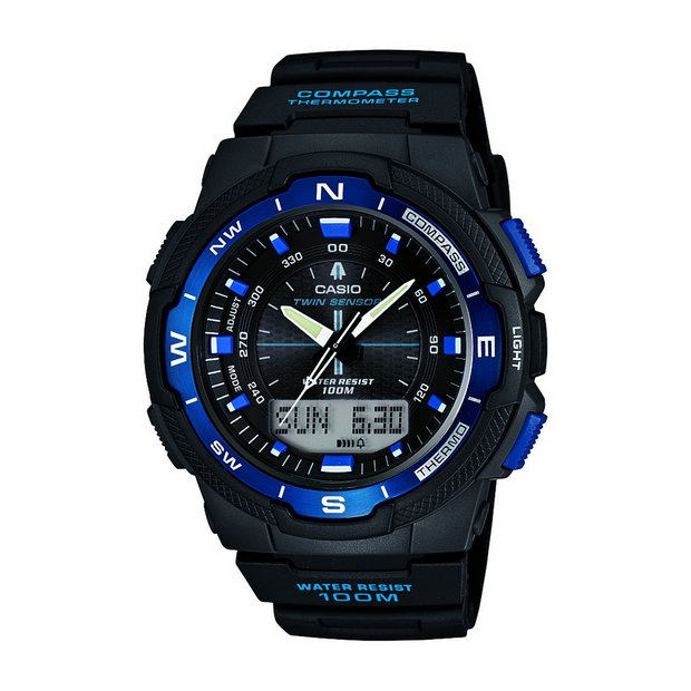 buy casio men s watches at argos co uk your online shop for more details on casio sports combi thermometer watch