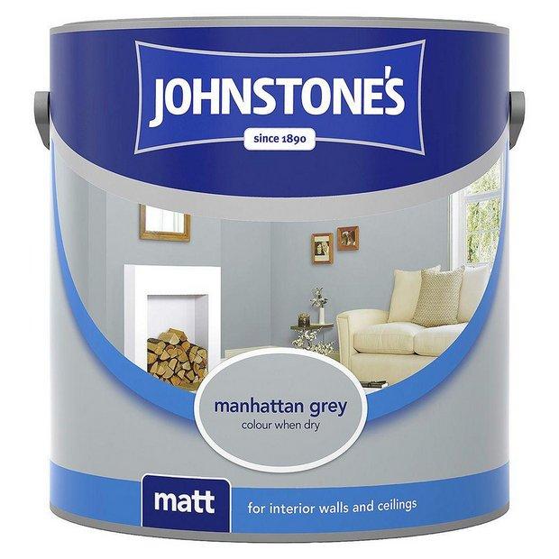 Buy johnstone 39 s matt emulsion paint 2 5l manhattan grey at your online shop for - Johnstones exterior paint set ...