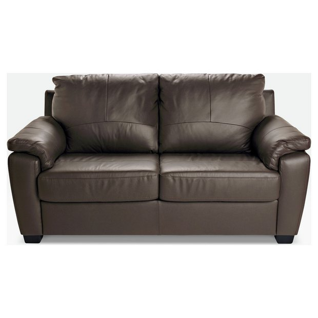 Buy home antonio 2 seater leather leather eff sofa bed choc at your online shop Buy home furniture online uk