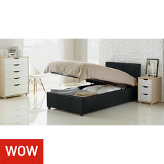 Argos Home Lavendon Black Single Ottoman Bed Frame