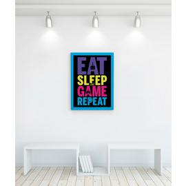 Gamer at Work Eat Sleep Game Repeat Canvas