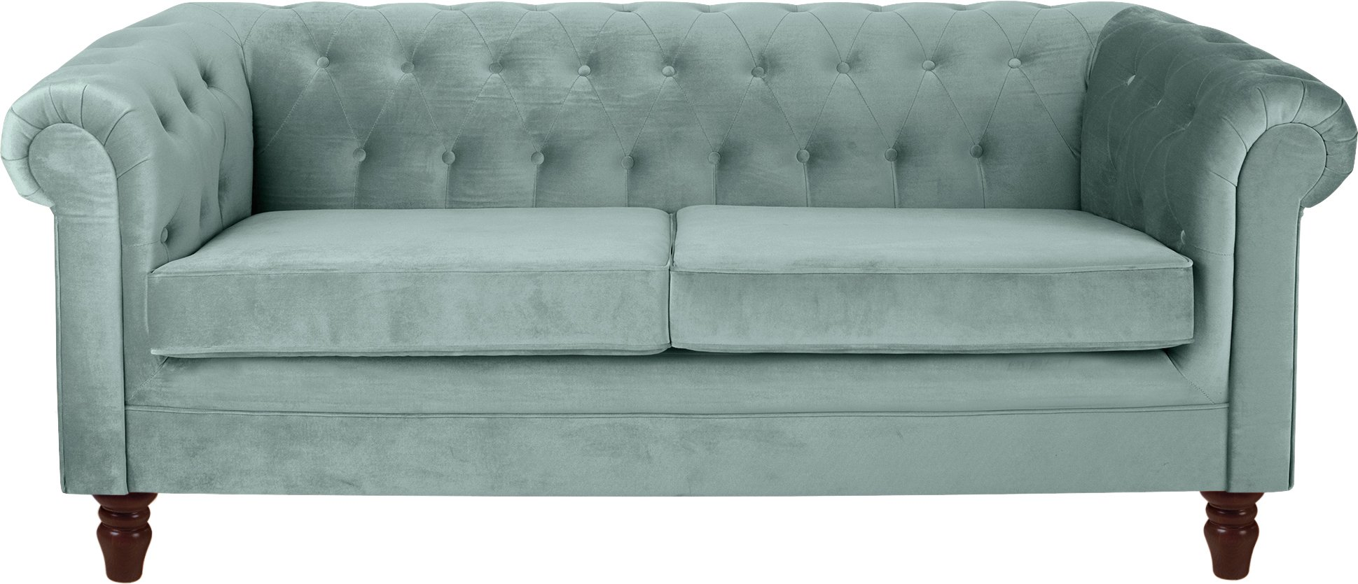 Buy Heart of House Chesterfield 3 Seater Fabric Sofa Duck Egg at Argos co uk Your Online
