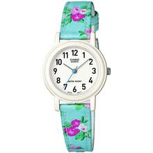 Casio Kids' Full Figure Dial Floral Strap Watch
