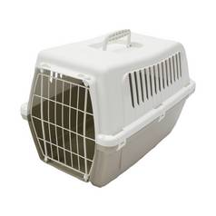 Rosewood Plastic Pet Carrier with Cushion - Medium