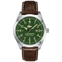 Lacoste Men's Montreal Green and Brown Strap Watch