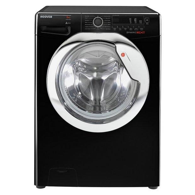 buy hoover dxcc48b3 8kg 1400 spin washing machine black. Black Bedroom Furniture Sets. Home Design Ideas
