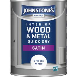 Johnstone's Quick Dry Satin Paint 1.25L - Brilliant White