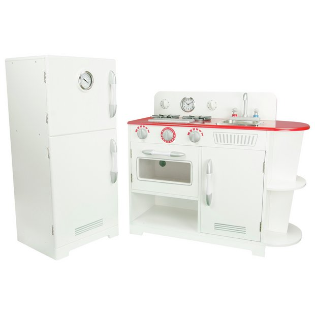 buy teamson kids red and white play kitchen at