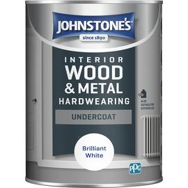 Johnstones Hardwearing Undercoat Paint 1.25L Brilliant White