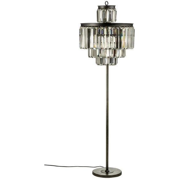 Buy art deco iron crystal floor lamp at argoscouk for Floor lamp babies r us