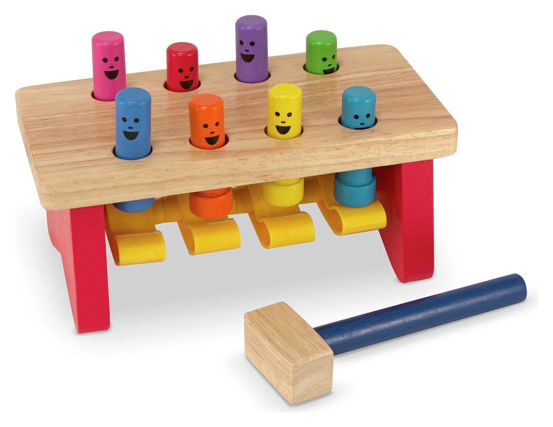 buy melissa & doug deluxe pounding bench | wooden toys