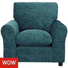 Argos Home Tessa Fabric Chair - Teal