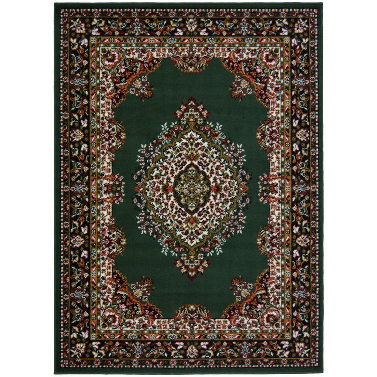 Buy Maestro Traditional Rug 200x290cm Green At Argos