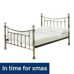 Argos Home Mason Kingsize Bed Frame - Antique Brass