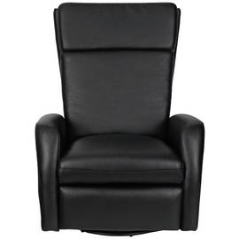 Argos Home Rock-R-Round Faux Leather Recliner Chair - Black