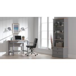 Argos Home Winchester 2 Drawer Desk - Grey Two Tone