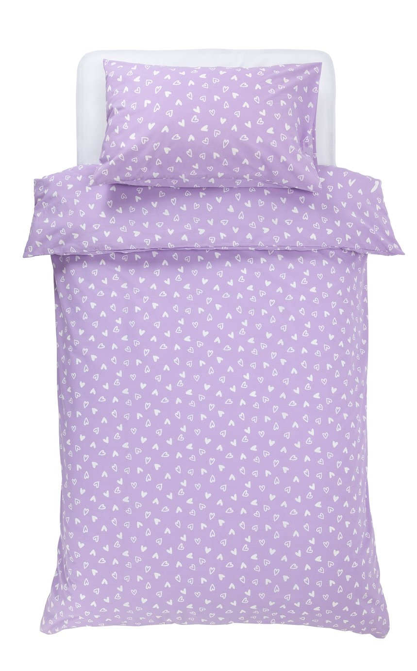 Single Argos Home Hearts Fitted Sheet