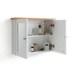 Argos Home Livingston Double Mirrored Wall Cabinet - White